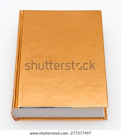 golden book on white background - stock photo