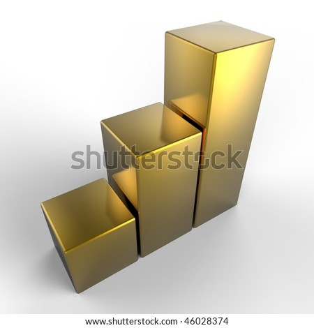 Golden box - stock photo