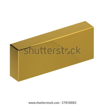 golden brick - stock photo