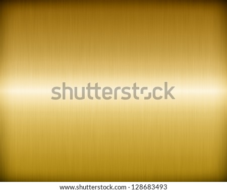 Golden brushed metal texture for background - stock photo