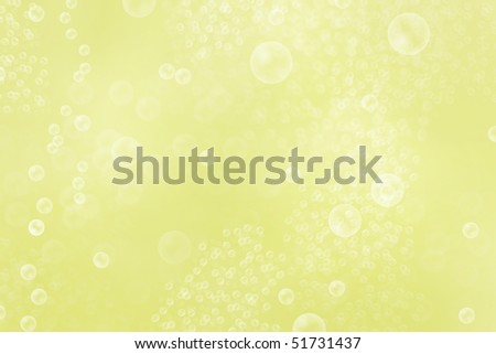 golden bubbles, rendered image representational of champagne bubbles - stock photo