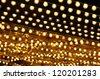 golden bulbs marquee - stock photo