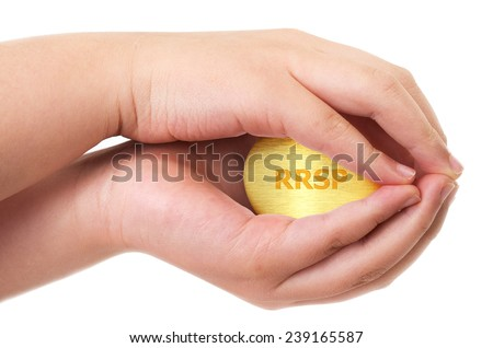 Golden Canadian retirement RRSP concept - stock photo