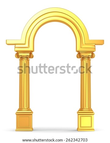 Golden Column Arc - stock photo