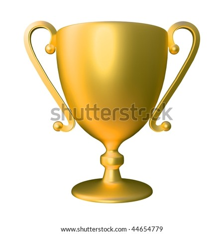 Golden Cup - stock photo