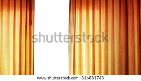 Golden curtain - stock photo