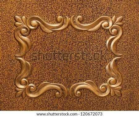 Golden decorative roman style background - stock photo