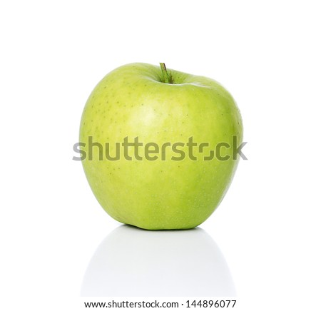 Golden Delicious apple - stock photo