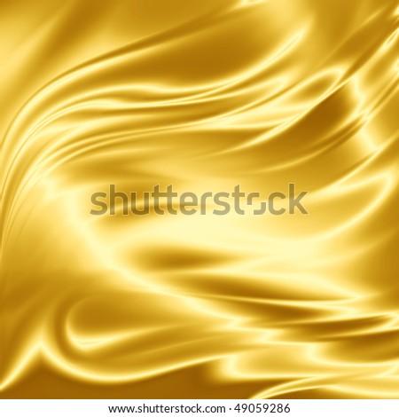 Golden drapery texture - stock photo