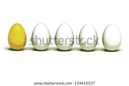 Golden egg leadership - stock photo