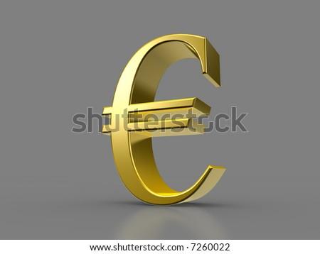 Golden Euro Sign - stock photo