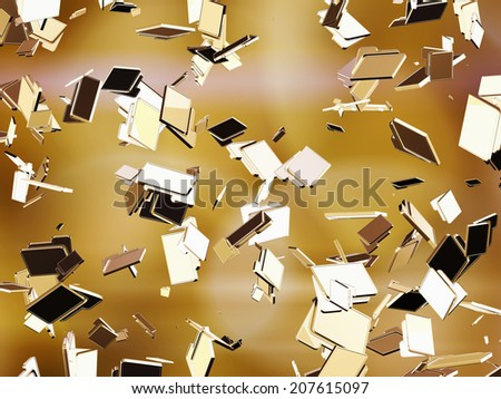 Golden files. - stock photo