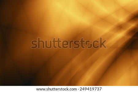 Golden flow energy abstract dark wallpaper pattern - stock photo