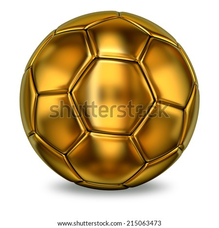 Golden football ball - stock photo