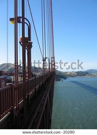 Golden Gate bridge in San Francisco. - stock photo
