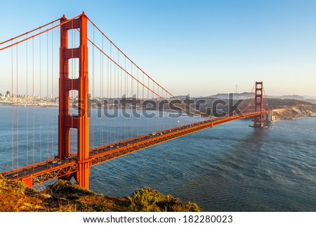 Golden Gate Bridge in San Francisco, CA, USA - stock photo