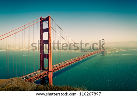 Golden Gate Bridge in San Francisco California USA - stock photo