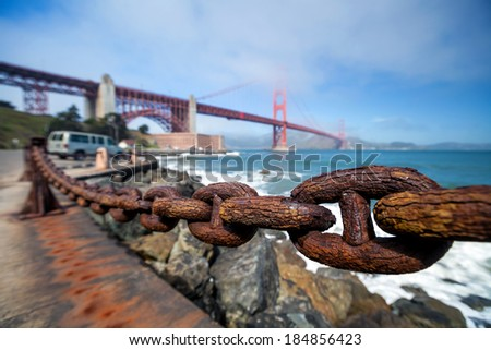 Golden Gate Bridge in San Francisco, California, USA - stock photo