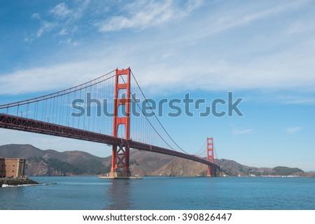 Golden Gate Bridge in San Francisco, California, USA  - stock photo
