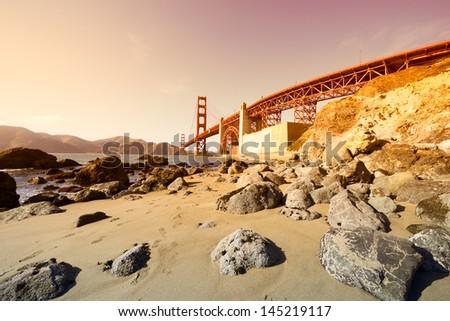 Golden Gate bridge in San Francisco, USA. - stock photo