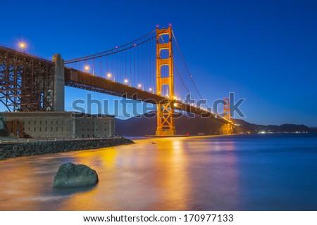 Golden Gate Bridge, San Francisco, California, USA - stock photo