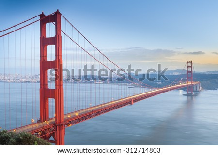 Golden Gate Bridge, San Francisco, California USA. - stock photo