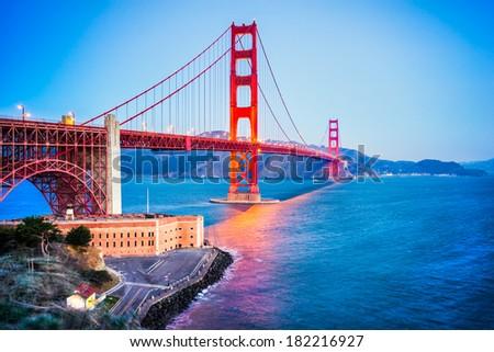 Golden Gate, San Francisco, California, USA - stock photo