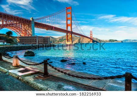 Golden Gate, San Francisco, California, USA - stock photo
