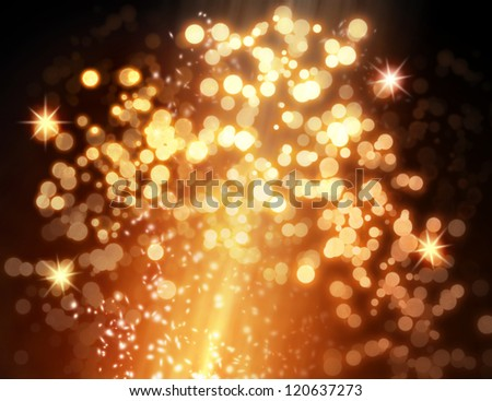Golden glare - stock photo