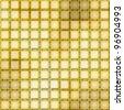 golden glass mosaic - stock photo