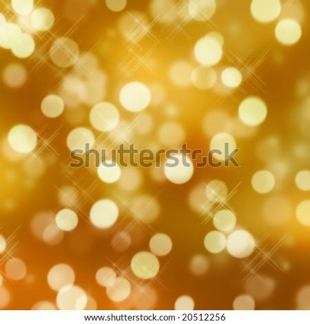 golden glittering lights - stock photo