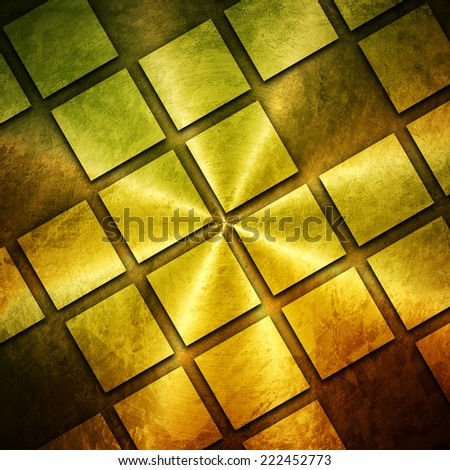 golden grid background  - stock photo