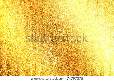 golden grunge background, raster illustration - stock photo