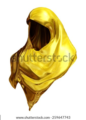 golden headscarf - stock photo