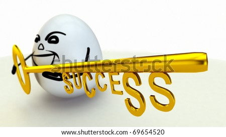 golden key to success - stock photo