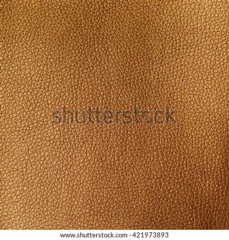 Golden leather texture - stock photo