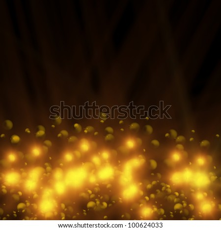 Golden lights - stock photo