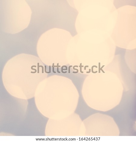 Golden Lights on grey background. Abstract natural blur defocussed background with sparkles, soft focus, greeting holiday card, festive frame, - stock photo