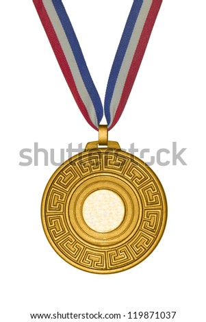 Golden medal - stock photo