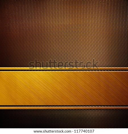 golden metal background - stock photo