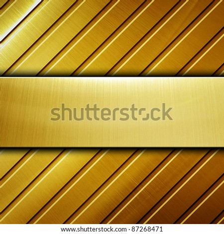 golden metal background - stock photo
