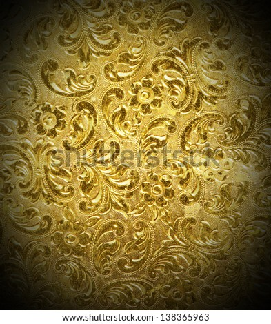 golden metal background used as background. - stock photo