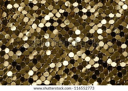 Golden Metal Shiny Texture - stock photo