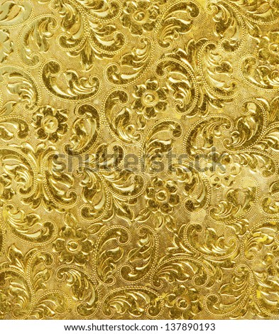 golden metal texture used as background. - stock photo