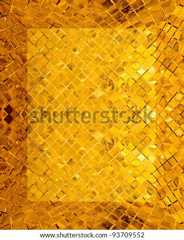 golden mosaic interior - stock photo