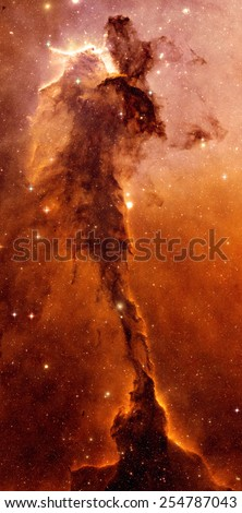 Golden Nebula - Elements of this Image Furnished by NASA - stock photo