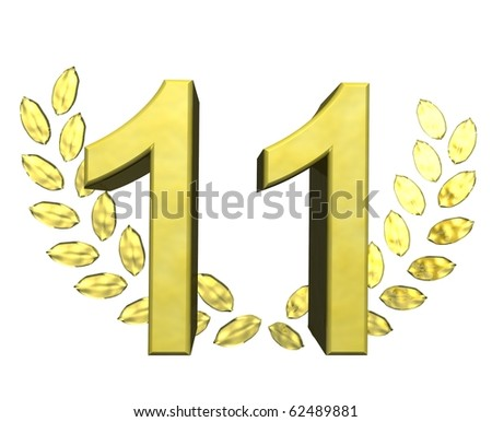 golden number eleven - stock photo