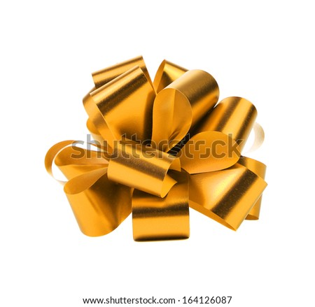 Golden packaging band. Isolated on a white background. - stock photo