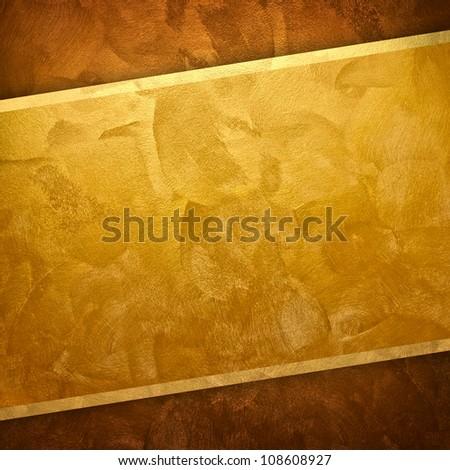 golden paint background - stock photo