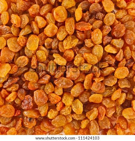 Golden raisins background - stock photo